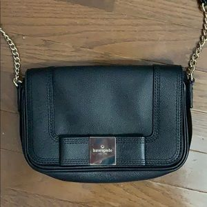small Kate Spade Black Leather Crossbody